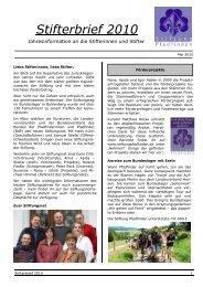 Stifterbrief 2010 - Stiftung Pfadfinden