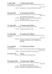 1. August 2010 9. Sonntag nach Trinitatis 08. August 2010 10 ...