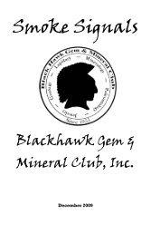 December - Black Hawk Gem and Mineral Club