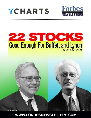 Good Enough For Buffett and Lynch - DeeGill.com