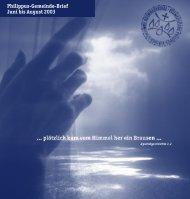 Philippus-Gemeinde-Brief Juni bis August 2003 - Evangelische ...