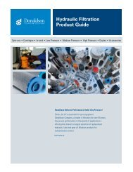 Hydraulic Filtration Product Guide - Donaldson Company, Inc.