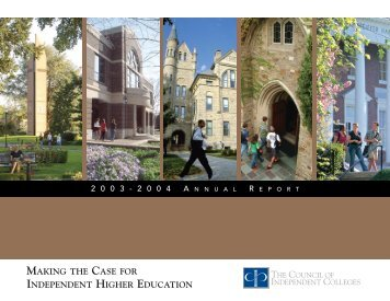 Annual Report 2003-2004 - The Council of Independent Colleges