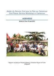 Atelier du Service Civil pour la Paix au Cameroun ... - Peaceworkafrica