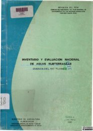 inventario y evaluación nacional de aguas subterráneas - Autoridad ...