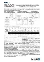 Baxi elektriskie uzkrājošie ūdens sildītāji - lietošanas ... - Sanistal