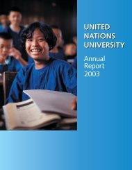 united nations university united nations university