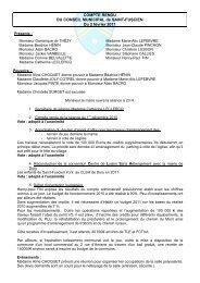 Conseil municipal du 2 février 2011 - Saint-Fuscien