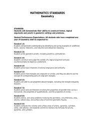 MATHEMATICS STANDARDS Geometry