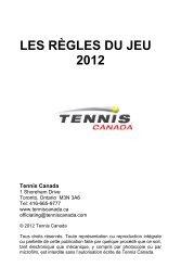 Fédération Québécoise de Tennis - Peps