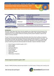 annual-report-2011 - Mountain Creek State High School