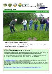 Fagmelding 30-2013 - Haugaland landbruksrådgjeving