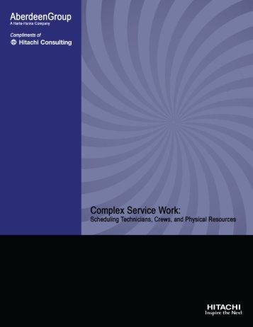Complex Service Work - Hitachi Consulting