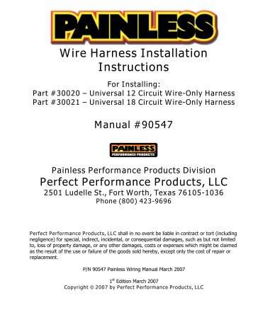 wire harness installation instructions painless wiring?quality=85 mopar 5 7 hemi wiring harness street & performance 12 circuit wiring harness instructions at bakdesigns.co