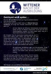 Infobrief Wittener Nacht - Deutsche Edelstahlwerke GmbH