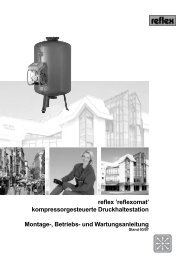 reflex 'reflexomat' kompressorgesteuerte Druckhaltestation Montage ...