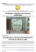 TP Statique - Equilibre d'un panneau préfabriqué - Page 2