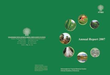 Annual Report 2007 - Xishuangbanna Tropical Botanical Garden