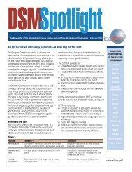 Issue 19 March 2003 - IEA Demand Side Management Programme