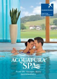 acquapura day spa - Falkensteiner