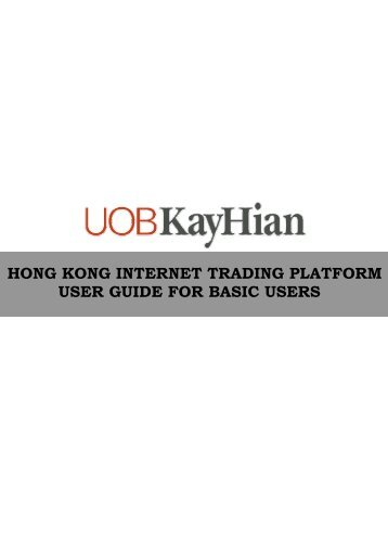 hong kong internet trading platform user guide for basic users
