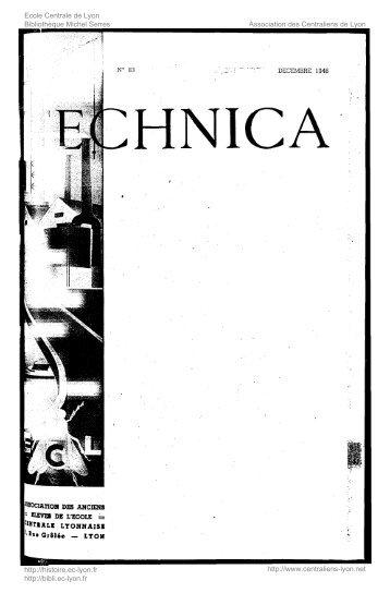 Revue Technica, année 1946, numéro 83 - Histoire de l'École ...