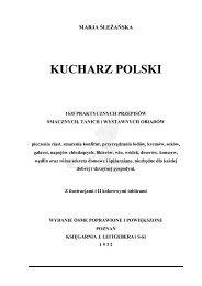 Kucharz Polski - Marja Śleżańska - Poznań 1932 - Chef Paul