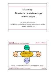 Didaktische Herausforderungen und Grundlagen - wbv-Fachtagung