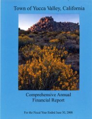 2008 Comprehensive Annual Financial Report - Town of Yucca Valley