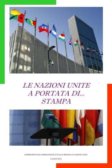 LE NAZIONI UNITE A PORTATA DI... STAMPA