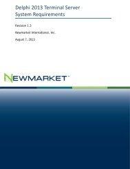Delphi 2013 Terminal Server System Requirements - Newmarket ...
