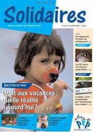 Télécharger Solidaires n°28, novembre 2006 - Pep