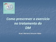 Como prescrever o exercício no tratamento do Diabetes ... - Uniube