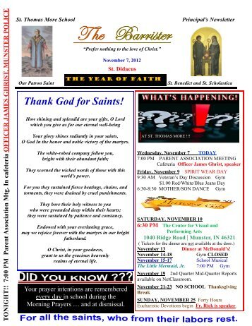 11-07-12 - St. Thomas More School