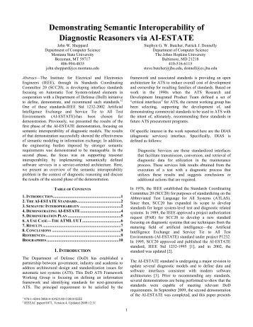 Demonstrating Semantic Interoperability of Diagnostic Reasoners ...