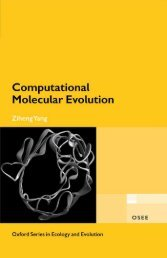 Computational Molecular Evolution - Index of