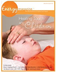 May 2011: Healing Touch and Children - Energy Magazine
