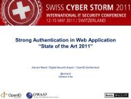 Strong Authentication In Web Application