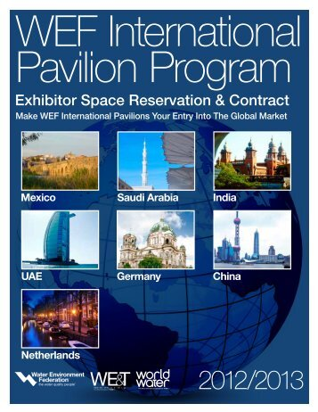 WEF International Pavilion Program - Water Environment Federation