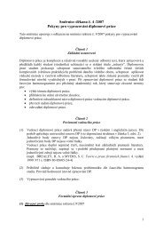 Směrnice děkana č. 4 /2007 Pokyny pro vypracování diplomové práce