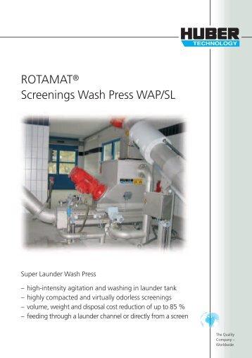 ROTAMAT® Screenings Wash Press WAP/SL