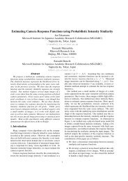 Estimating Camera Response Functions using Probabilistic Intensity ...
