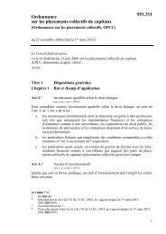 Ordonnance sur les placements collectifs, OPCC - admin.ch