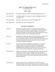Seth C. W. Hayden Ph.D., NCC - The Career Center - Florida State ...