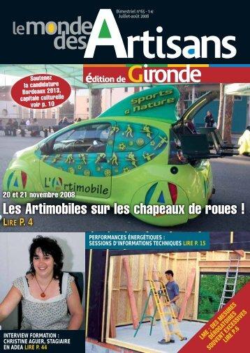 N°65 - Juillet - Aout 2008 - Chambre de métiers et de l'artisanat