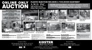 AUCTION - Koster Industries, Inc.