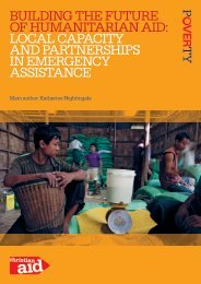 Building the future of humanitarian aid: local capacity ... - Christian Aid