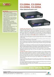 Video Switcher/Scalers C2-2200A, C2-2205A C2-2250A ... - VIDELCO