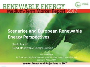 Scenarios and European Renewable Energy Perspectives