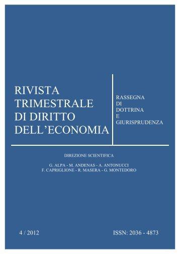 Numero 4 2012 - Fondazione Capriglione Onlus - Luiss